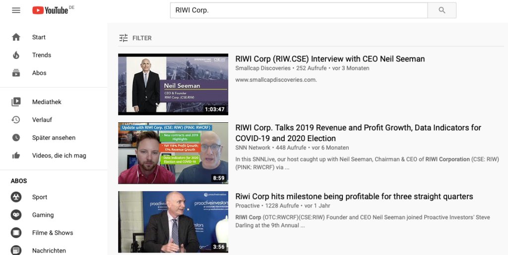 YouTuve Interviews with CEO Neil Seeman